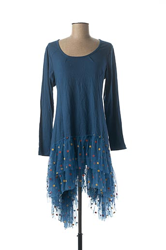 Robe mi-longue bleu RHUM RAISIN pour femme