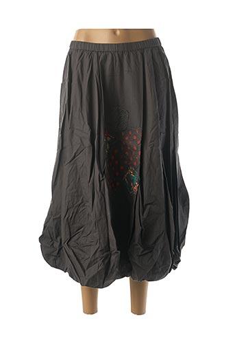 Jupe longue gris RHUM RAISIN pour femme