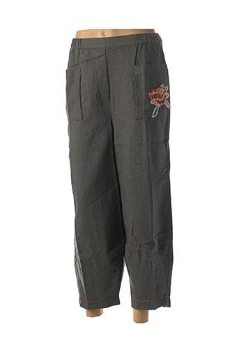 Pantalon 7/8 gris RHUM RAISIN pour femme