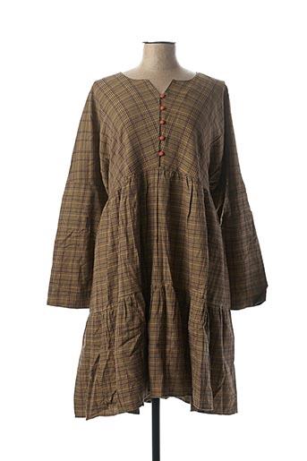 Robe courte marron RHUM RAISIN pour femme