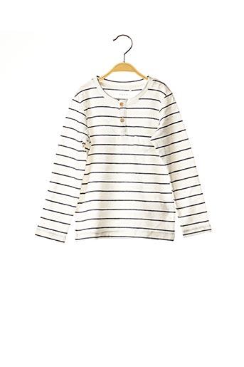 T-shirt manches longues blanc NAME IT pour garçon