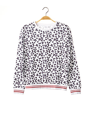 Pull col rond blanc NAME IT pour fille