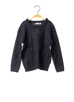 Pull col rond bleu NAME IT pour fille