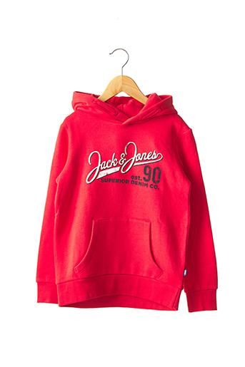 Sweat-shirt rouge JACK & JONES pour garçon