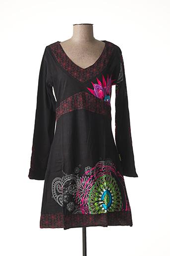 Robe mi-longue noir DIPAWALI pour femme