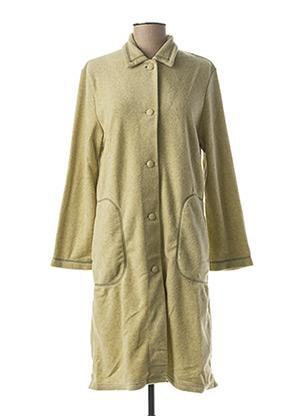 Robe de chambre vert RAISON D'ETRE pour femme