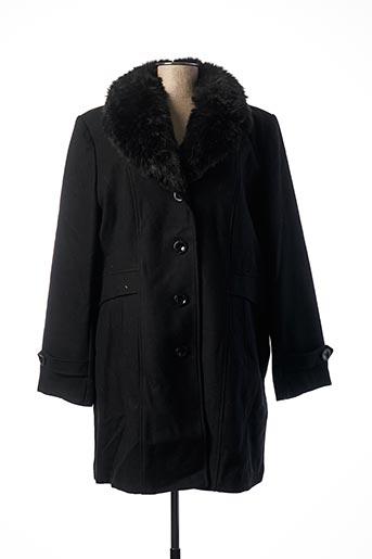Manteau long noir CONCEPT K pour femme