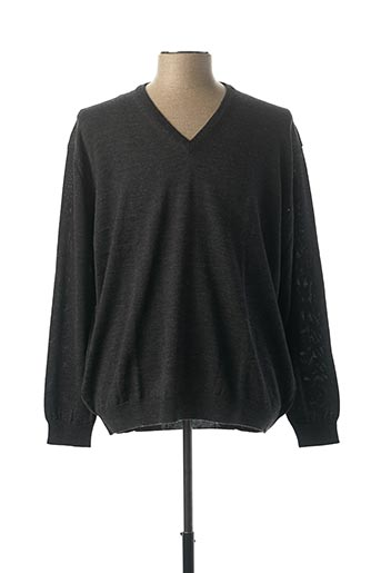 Pull col V gris CHAIRMAN pour homme