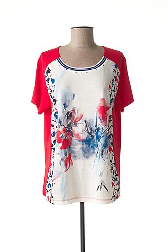 T-shirt manches courtes rouge BAGORAZ pour femme