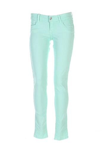 Jeans coupe slim vert TIFFOSI pour femme