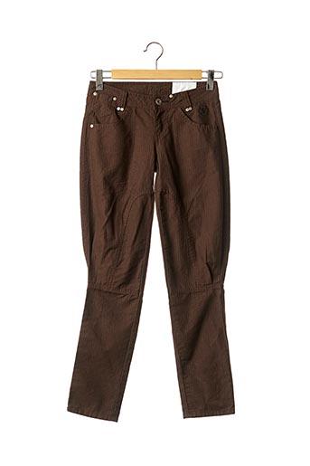 Pantalon casual marron DDP pour femme