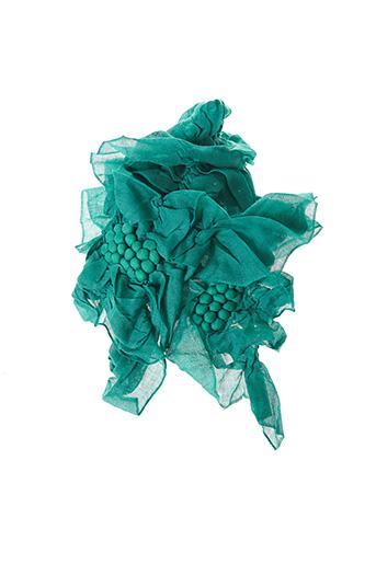 Foulard vert PALME pour femme