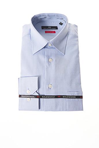 Chemise manches longues bleu BALENCIAGA pour homme