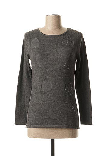 Pull col rond gris MARBLE pour femme