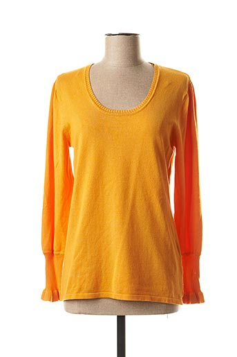 Pull col rond orange MARBLE pour femme