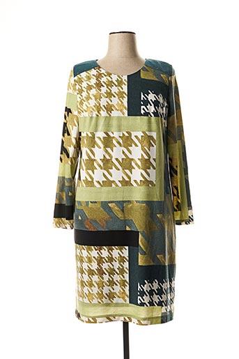 Robe mi-longue vert ARONA pour femme