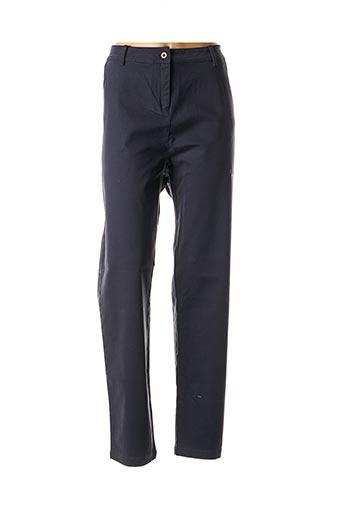 Pantalon casual bleu AGATHE & LOUISE pour femme
