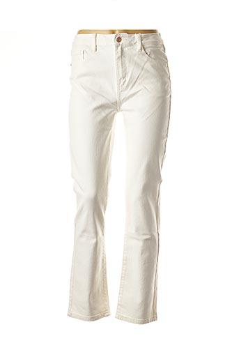 Jeans coupe droite blanc CINDY.H pour femme