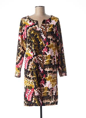 Robe mi-longue noir QUATTRO pour femme