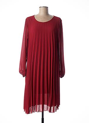 Robe mi-longue rouge QUATTRO pour femme