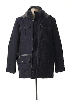 Manteau court bleu PARTNER'S pour homme