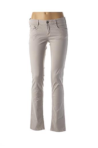 Jeans coupe slim gris CIMARRON pour femme