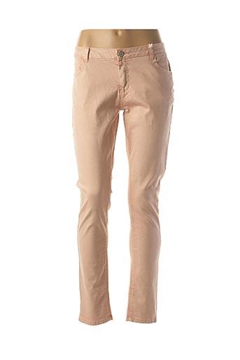 Jeans coupe slim rose MKT STUDIO pour femme