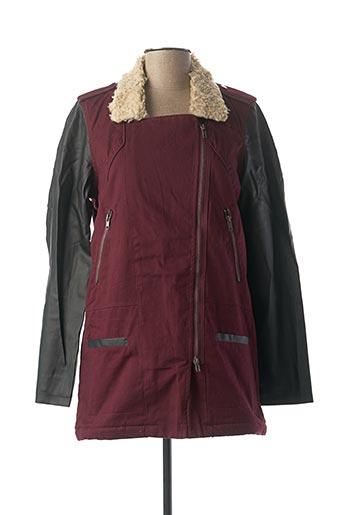 Manteau long violet 2 TWO pour femme