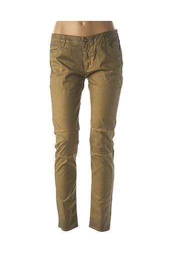 Pantalon casual jaune REIKO pour femme