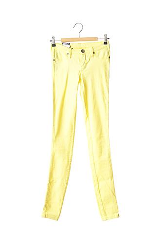 Jeans coupe slim jaune DR DENIM pour femme
