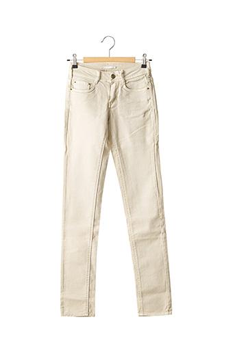 Jeans skinny beige CIMARRON pour femme