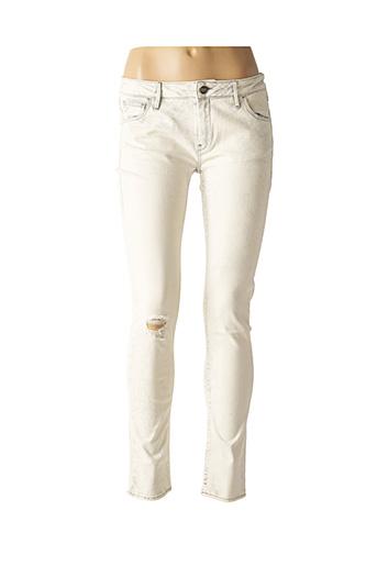 Jeans skinny beige REIKO pour femme