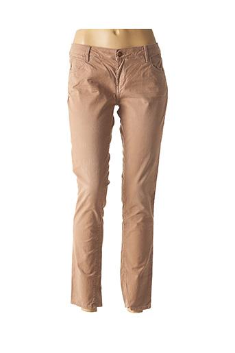Pantalon casual marron REIKO pour femme