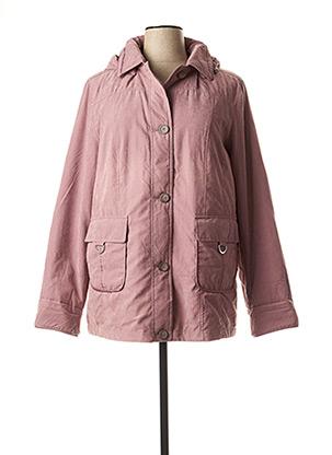 Manteau court rose CONCEPT K pour femme