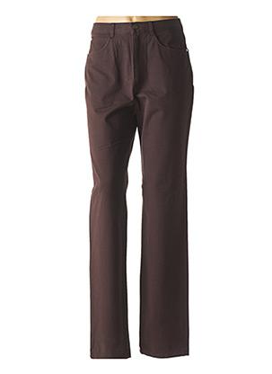Jeans coupe droite marron BRUNO SAINT HILAIRE pour femme