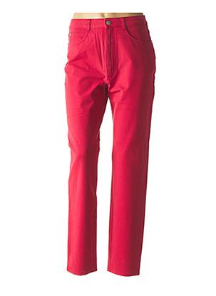 Jeans coupe droite rouge BRUNO SAINT HILAIRE pour femme