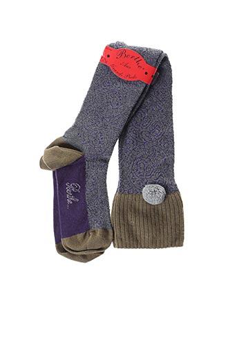 Chaussettes violet BERTHE AUX GRANDS PIEDS pour femme