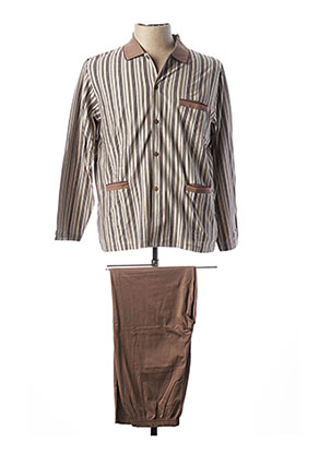 Pyjama marron PEIGNORA pour homme