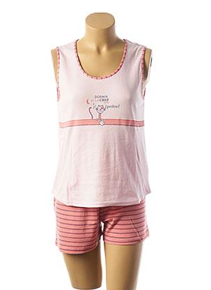 Pyjashort rose RAISON D'ETRE pour femme