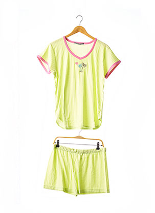 Pyjashort vert RAISON D'ETRE pour femme