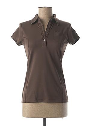 Polo manches courtes marron FUSALP pour femme