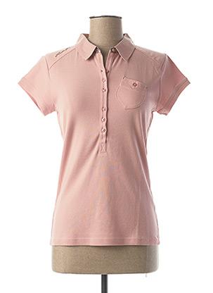 Polo manches courtes rose FUSALP pour femme