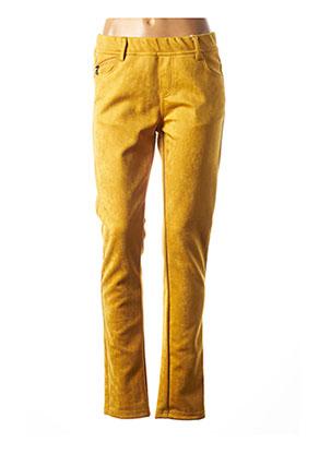 Pantalon casual jaune GEVANA pour femme