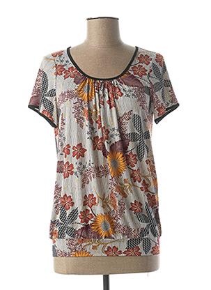 T-shirt manches courtes marron TELMAIL pour femme