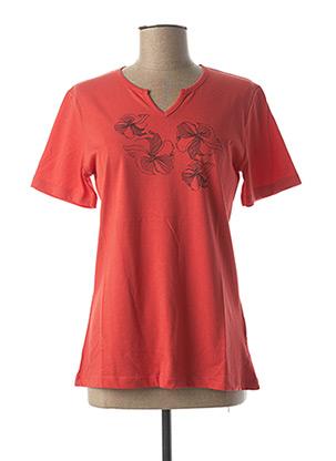T-shirt manches courtes orange JENSEN pour femme