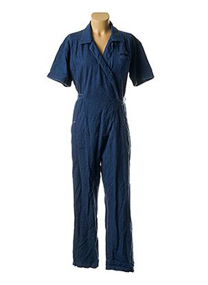 Combi-pantalon bleu FAÇON JACMIN pour femme