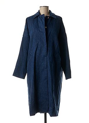 Manteau long bleu FAÇON JACMIN pour femme