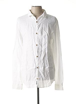 Chemise manches longues blanc ECOALF pour homme