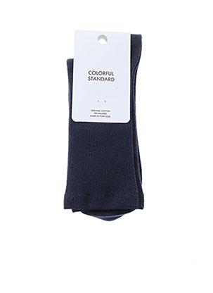 Chaussettes bleu COLORFUL STANDARD pour femme