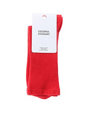 Chaussettes rouge COLORFUL STANDARD pour femme